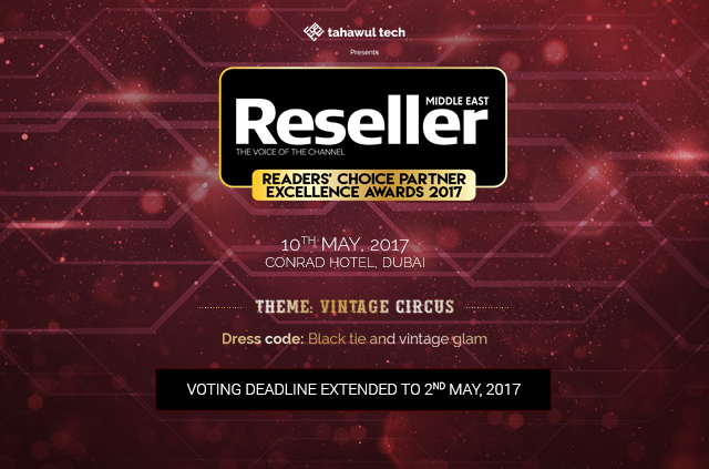 Reseller Middle East Partner Excellence Conference and Awards 2017 | Conrad Hotel | 10th May 2017 | VOTE NOW!